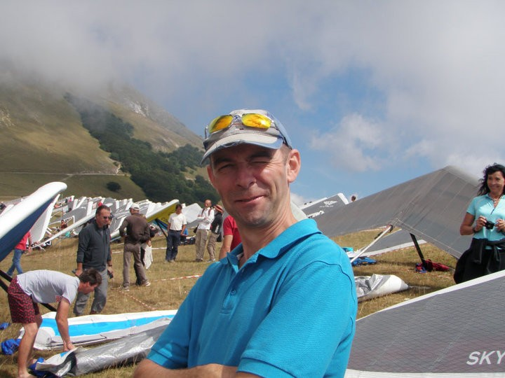 Phil Lardner on Monte Cucco 2010