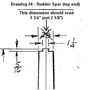 Drawing 4 - Rudder Spar - top end